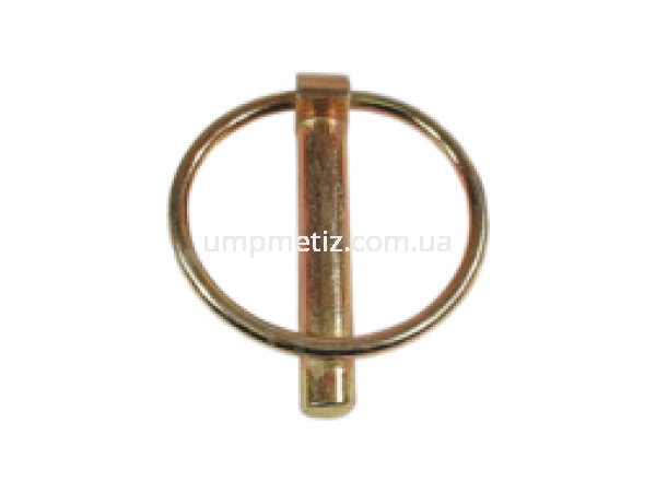Шплинт (штифт) с кольцом 10  цинк желтый UMP77