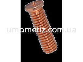 Шпилька приварная M10*25  омедненная ISO 13918 PT