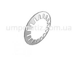 Дисковая зубчатая пружина для подшипников Schnorr 12.8*7.2*0.2  фосфатированная UMP121