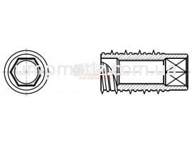 Анкер для бетона с отверстием M12 цинк белый UMP214