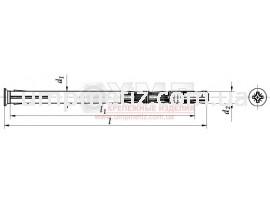Анкер двухразжимной форма P 10*112 UMP231 P