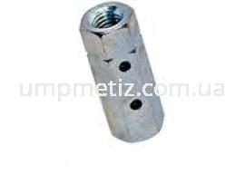 Гайка (муфта) стяжная M10 цинк белый DIN 1479
