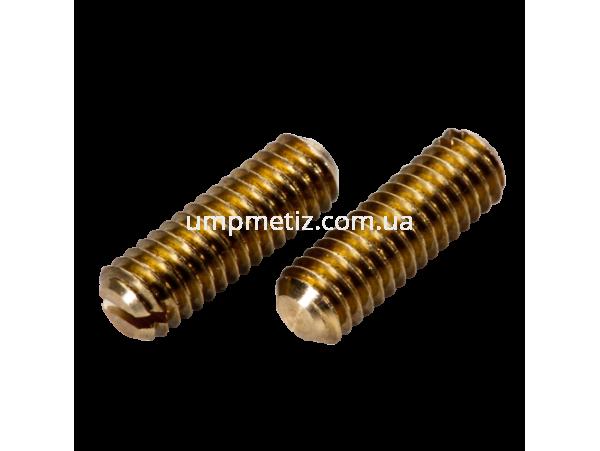 Винт установочный M10*12 латунь DIN 551 (ISO 4766)