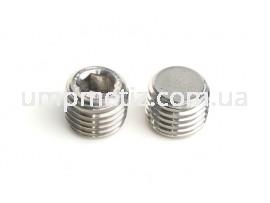 Пробка (заглушка) резьбовая коничекая и внутренним шестигранником M10*1 A4 DIN 906