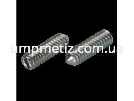 Винт установочный M10*20 45H цинк белый DIN 914 (ISO 4027)