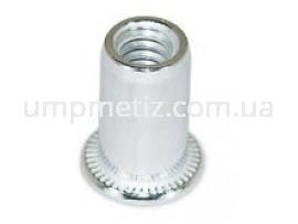 Гайка клепальная с буртиком M 6 (1,00-3,00)-Al  UMP310